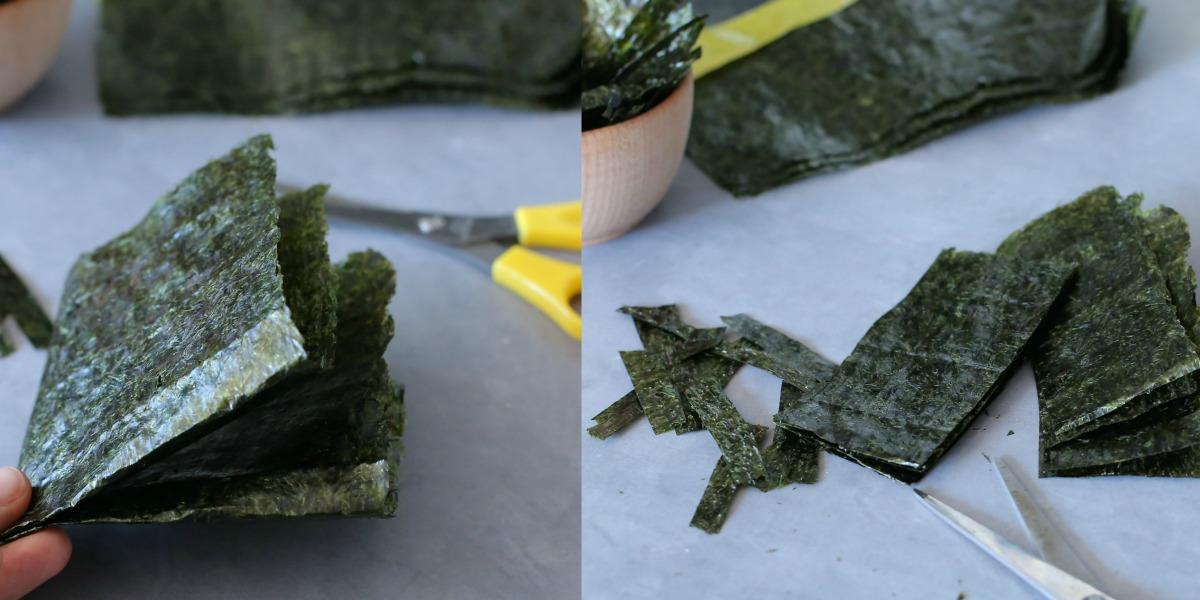 איך ליצור רצועות של אצות נורי_איך לשלב אצות בסלט_טיפם פרקטיים במטבח_טליה הדר_אשת סטייל